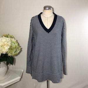 Tommy Hilfiger Stripe V Neck Sweater